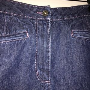 Christopher & Banks denim modest skirt size 10